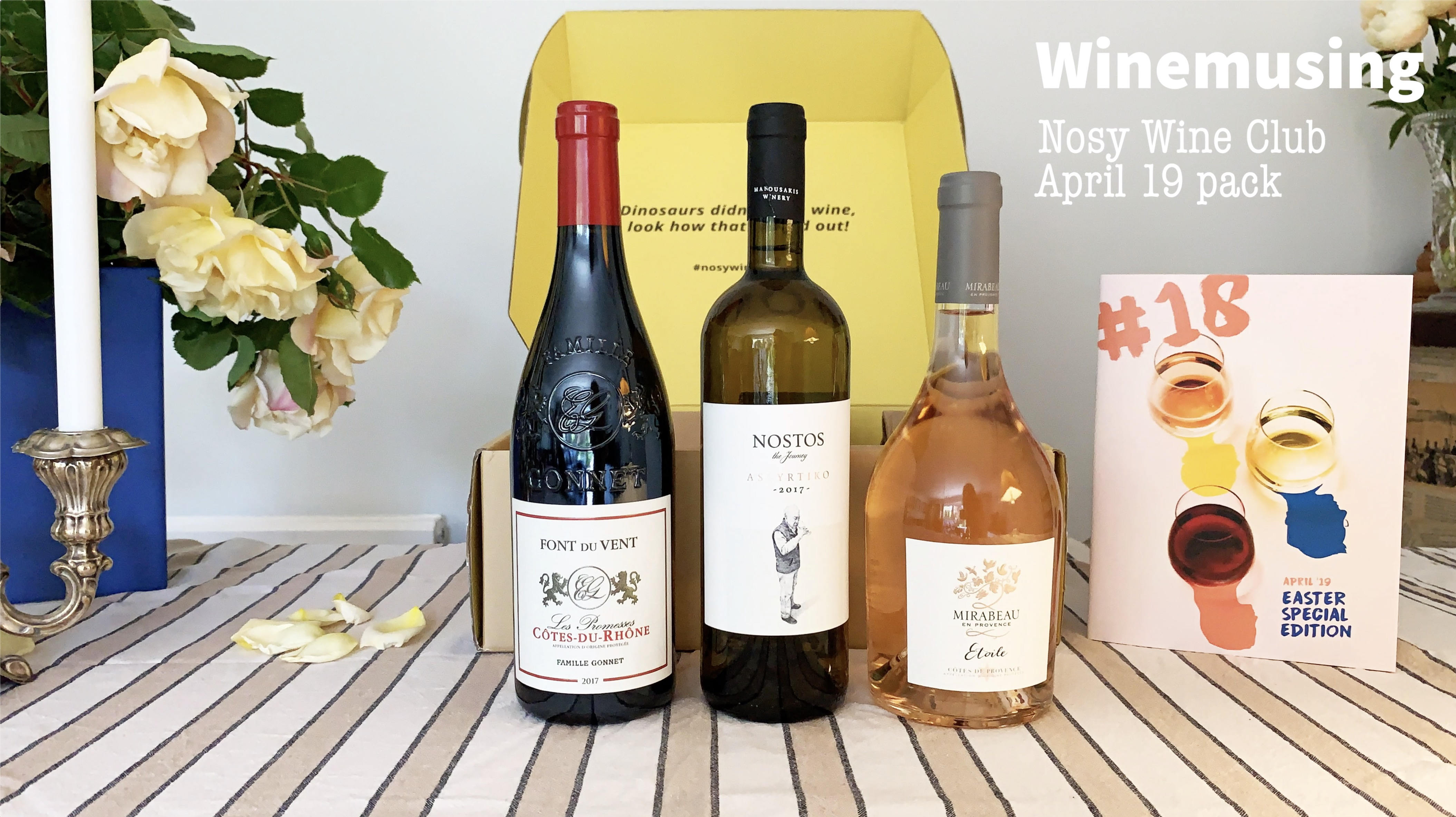 Unboxing the Nosy Wine Club April 19 Subscription box!